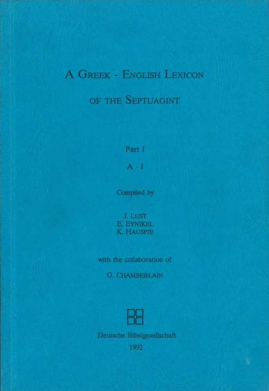 Greek–English Lexicon LXX